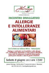 Loc Allergie e intolleranze alimentari